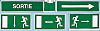 Site Safety, Sortie, French, Exit Sign