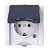 Kopp Grey 1 Gang Plug Socket, 2 Poles,