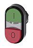 Siemens Flat, Raised Green, Red Push Button Head