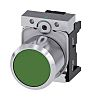 Siemens Flat Green Push Button Head - Momentary,