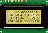Fordata FC1604A01-FSYYBW-51SE FC LCD LCD Graphic Display, Green,