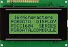 Fordata FC1604A01-RNNYBW-66SE FC LCD LCD Graphic Display, Green,