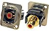 RS PRO Red Panel Mount RCA Socket, Gold