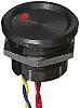 Interruptor piezo, 200 mA a 24 V dc Monopolar de una vía (SPST), Terminales de Wire Lead IP68, -40 → +75°C