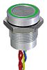 Illuminated Flying Lead Piezo Switch, , IP68, 200 mA @ 24 V dc, Single Pole Single Throw (SPST), -40 → +75°C