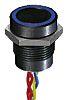 Illuminated Flying Lead Piezo Switch, , IP68, 200 mA @ 24 V dc, Single Pole Single Throw (SPST), -40 → +75°C