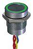 Interruptor piezo, 200 mA a 24 V dc Monopolar de una vía (SPST), Terminales de Flying Lead IP68, -40 → +75°C