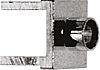 Telegartner Straight RF Terminator, PCB Mount, 0 → 4GHz, RG405/U, UT85