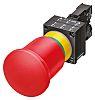 Siemens, 3SB3 Non-illuminated Red Mushroom, NO/NC, 22mm Latching