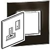 Legrand Black 1 Gang Cover for Support Frame Polycarbonate Cover Plate
