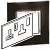 Legrand Black 2 Gang Cover for Support Frame Polycarbonate Cover Plate