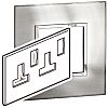 Legrand Stainless Steel 2 Gang Cover for Support Frame Stainless Steel Cover Plate