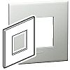 Legrand Pearl Aluminium 1 Gang Cover Plate Polycarbonate
