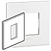 Legrand White 1 Gang Face Plate Polycarbonate Franco-Belgain,