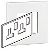 Legrand White 2 Gang Cover Plate Polycarbonate BS, Socket Cover Plate