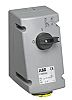 ABB Vertical Switchable IP44 Industrial Interlock Socket 2P+E,