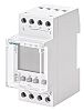 2 Channel Digital DIN Rail Switch Measures Hours,