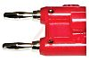 Mueller Electric Red Male Banana Plug, 5kV, 15A