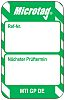 Brady Micro Tag Inspection Tag, White on Green