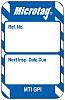Brady Micro Tag Inspection Tag, White on Blue