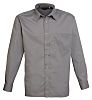 RS PRO Grey Men's Cotton, Polyester Long Sleeved