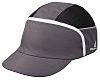Delta Plus Black, Grey Standard Peak Bump Cap,
