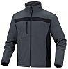 Delta Plus Black/Grey Elastane, Polyester Work Jacket, XXXL
