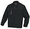 Delta Plus Black/Grey Work Jacket, XL
