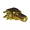 Amphenol 50Ω Right Angle PCB Mount SMA Connector,