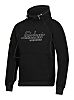 Snickers Black Men's Hooded Cotton, Polyester Hoodie S