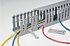 HellermannTyton HTWD-PW Grey Slotted Panel Trunking - Open