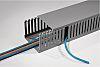 HellermannTyton HTWD-PD Grey Slotted Panel Trunking - Open Slot, W25 mm x D50mm, L2m, PVC