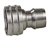 Straight Male Hose Coupling 1/2in Nipple to Threaded,