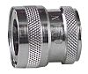 Straight Hose Coupling 1/2in Coupler to Threaded, 1/2