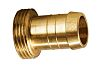 RS PRO Straight Brass Hose Connector, 3/4 in