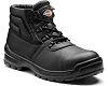 Dickies Redland II Black Steel Toe Capped Safety Boots, UK 9, EU 43
