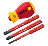 Wiha Tools Driver Bit Set 4 Pieces, Phillips,