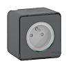 Schneider Electric Grey 1 Gang Plug Socket, 2P+E