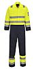 RS PRO Yellow Reusable Yes Coverall, XXL