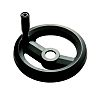 RS PRO Black Glass-Fibre Reinforced Technopolymer Hand Wheel,