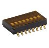 6 Way Surface Mount DIP Switch SPST, Flush,