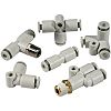 SMC Threaded-to-Tube Pneumatic Fitting M5 to Push In