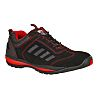 RS PRO Black/Red Men Toe Cap Safety Trainers,