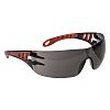 RS PRO Safety Glasses, Black/Grey Polycarbonate Lens, Scratch