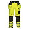 RS PRO Yellow Hi-Vis Unisex Abrasion Resistant Trousers