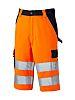 Dickies SA30065 Orange/Navy Men Hi Vis Shorts, 34in