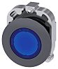 Siemens Flush Blue Push Button - Momentary, SIRIUS