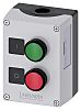 Siemens Enclosed Push Button - SPDT, Plastic, Green,