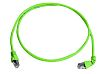 Telegartner Shielded Cat6a Cable Assembly 1m, Green, Male