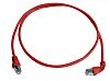 Telegartner Shielded Cat6a Cable Assembly 1m, Red, Male